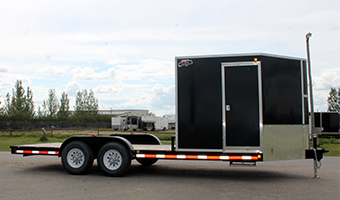 v-nose-flat-deck-trailer